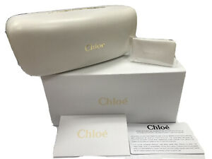 NEW CHLOE RECTANGULAR SUNGLASSES EYEGLASSES WHITE HARD CASE