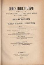 DIRITTO PACIFICI MAZZONI EMIDIO TRATTATO DEI PRIVILEGI E DELLE IPOTECHE 1885