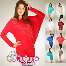 Stylish Tunic COMET Long Sleeve Blouse Dress BAT Style Size 8-12 6059