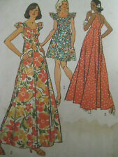 VTG Simplicity 5736 Womens MUUMUU 2 Lengths Sew Pattern