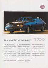 Tatra T700 Prospekt, 1997, englisch