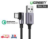 Câble Chargeur Type-C USB 2.0 Charge Synchro Rapide 90 degrés Ugreen 3A 1M