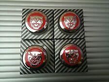 4x Jaguar Red Alloy Hub Wheel Centre Caps 59MM , XF XJ XJR XJ6 X S Cap