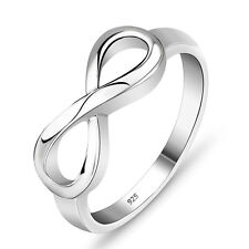 925 Silver Plated Infinity Ring Endless Love Symbol Rings For Fashion Women
