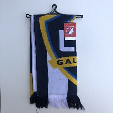NEW Adidas LA Galaxy Double Sided Scarf MLS Soccer Blue Yellow Los Angeles