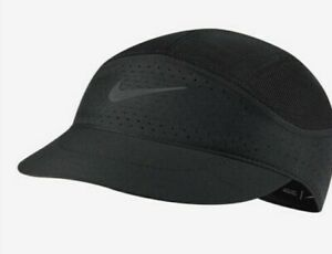 NIKE Tailwind Featherlight Mesh DriFit Running Hat Cap Black One Size Adult Mens