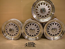 FORD & VW GOLF MK1 & MK2, MX5 BBS RS STYLE ALLOY SILVER WHEEL SET OF 4 JBW OS3