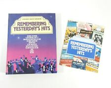 Vtg Readers Digest Songbook Remembering Yesterdays Hits Spiral Bound Sheet Music