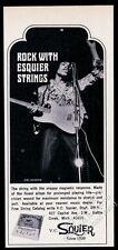 1968 Jim Hendrix photo Esquire Squier guitar strings vintage print ad