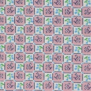 """1/2 Yard Vintage Fabric 35"""" Wide x18""""  Floral Check"""