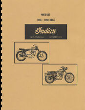 Enfield Indian ~ Woodsman-Westerner ~ Parts List 1955-58 ~ Reprnt Manual