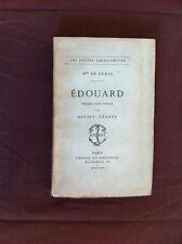 DE DURAS Mme - Edouard, précédé d'une préface par Octave Uzanne. - 1879 -