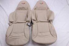 Custom Made 1997-2004 C5 Corvette Real Leather Seat Covers for Sport Seats Oak