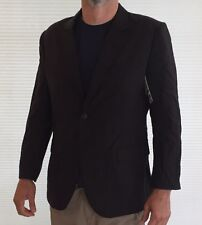 CALVIN KLEIN Black Wool Blend Blazer NWT Mens Large Short