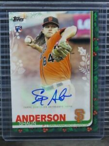 2019 Topps Walmart Holiday Shaun Anderson Rookie Autograph Auto RC #127/200 G263