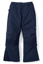 Lands End 418919 Boys Squall Snowpants Ski Snow Pants Size 8 Regiment Navy Blue