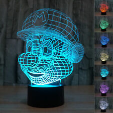 Kids Gift Super Mario 3D Night Light 7 Color Changable LED Light Lamp Christmas