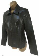 NEXT Brown Faux Leather PVC Biker Style Jacket - UK 12