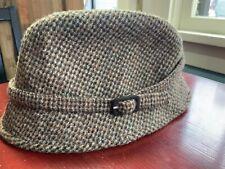 1d3425049a35d Harris Tweed 7 1 8 Brown Herringbone Tweed Scotland Wool Bucket Grouse Hat