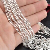 """Wholesale 5Pcs 1mm Silver Circle Rolo Chain Necklace 16""""-24'' Fashion luxury Hot"""