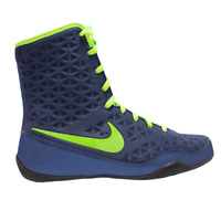 Nike KO Boxing Boots Shoes Mens Womens Box Trainers Navy/Green