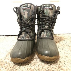 Thinsulate Proline Camo duck hunting boots size 4 steel shank