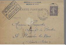 ENTIER  POSTAL  CARTE POSTALE   TYPE SEMEUSE 1928 SAUMUR