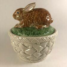 Fitz & Floyd Autumn Leaves Pattern 1 Pint Covered Casserole Dish Bunny Rabbit
