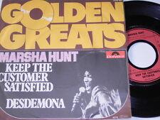"7"" - Marsha Hunt Keep the customer satisfied & Desdemona # 3710"