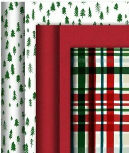 Hallmark Christmas Gift Wrapping Paper Bundle  3x2M Rolls,Gift Tags & 6m Ribbon