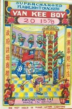 Vintage Yan Kee Boy Collectible Fireworks Label by Kwong Hing Tai China