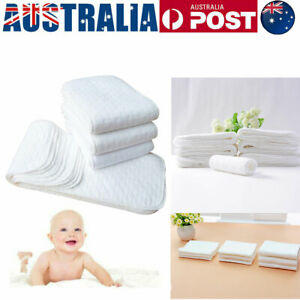 10PCS Modern Nappy Inserts Liners Reusable Washable Cloth Nappies Diapers Baby