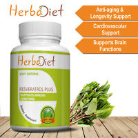 Resveratrol with Acai Berry, Grape Seed, Green Tea, Quercetin 500mg Veg Capsules