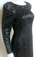 Alexander McQueen A/W 2009 Black Jacquard Pencil Dress 40 uk 8