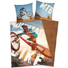 Mountain Bike Single Duvet Cover Set European Bedding Cotton Boys