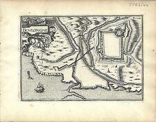 Antique map, Boulongne (Boulogne-sur-mer)