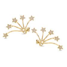 0.27 CT 14K Rose Gold Natural Round Diamond Star Ear Jacket Stud Earrings