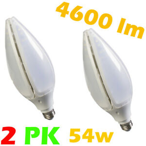 2 Pk 36w LED Bulb Light E26 A19 E27 3200 lumen for Garage Basement Shop Ceiling
