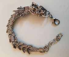 Silver Dragon Bracelet Handcrafted Tibetan Silver
