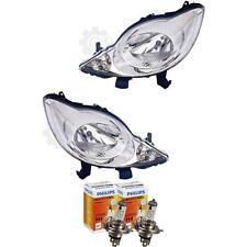 Halogen Scheinwerfer Set Peugeot 107 06.05-> H4 ohne Motor inkl. Lampen 1380369