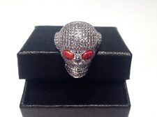 Day of the Dead Skulls Head Eyes Ring Sterling Silver Rock Gothic P½