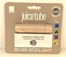 Juice Tube Portable Power Bank,Emergency Changing Tube 2200 mAh, Gold