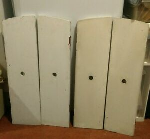 X2 Pairs Vintage Original Solid Wooden Window Shutters