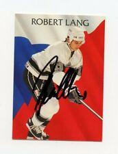 ROBERT LANG KINGS AUTOGRAPH AUTO 92-93 PARKHURST #227 *62343