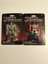 2x TWO Transformers G1 Keychain Bag Backpack Clip Optimus Prime & Megatron BOTH