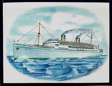 Original Art Work . ss Mariposa . Matson Line. ocean liner