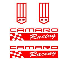 Camaro Racing Sticker badge RED Decal chevy z rs ss zl1 z28 lt iroc emblem