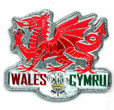 WELSH DRAGON METALLIC FRIDGE MAGNET - GREAT SOUVENIR GIFT FROM WALES CYMRU -7607