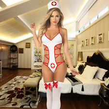 HOT Sexy Lady Nurse Outfit Vital Sign Costume Fancy Erotic Teddy Lingerie Dress