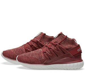 Adidas Original Mens 9.5 Tubular Nova Primeknit Mystery Red Shoe BB8406 Preowned